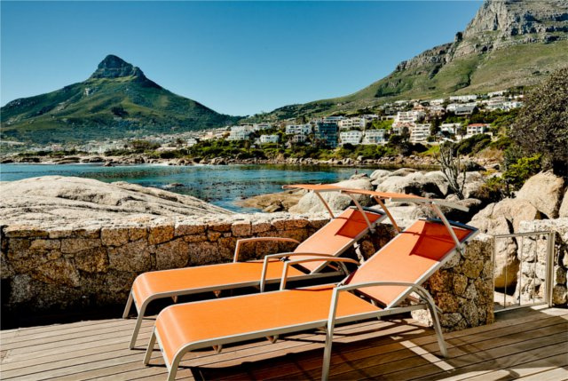 Bungalow On the Rocks Llandudno 2 Bedroom Cape Town Luxury Accommodation Rental Property Holiday Flat Atlantic Letting sunbeds photo