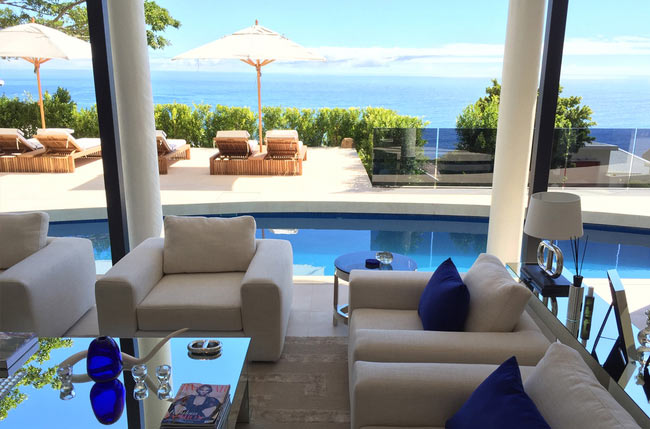 Villa Majestic 5 Bedroom Camps Bay Luxury Holiday Accommodation Rental Property Atlantic Letting photo lounge pool