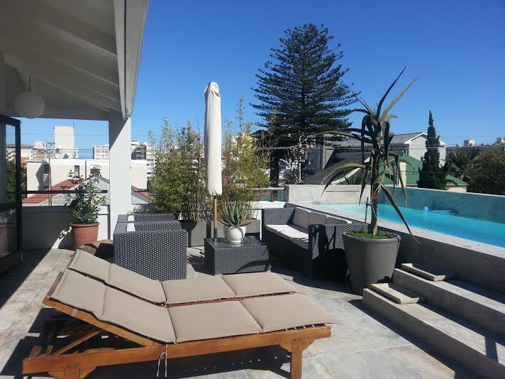 Bellvue Sea Point Apartment Atlantic Letting Cape Town Luxury Accommodation Outside Pool and sunbeds